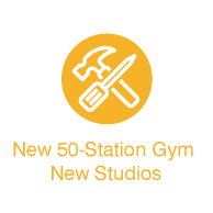 new 50-station gym new studios